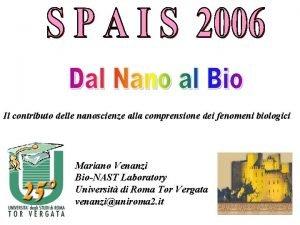 Il contributo delle nanoscienze alla comprensione dei fenomeni