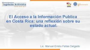 El Acceso a la Informacin Publica en Costa