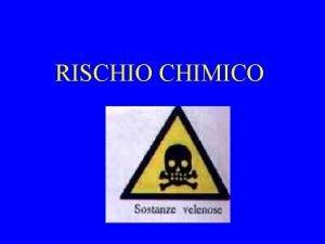RISCHIO CHIMICO I PRINCIPALI FATTORI DI RISCHIO CHIMICO