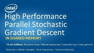 High Performance Parallel Stochastic Gradient Descent IN SHARED