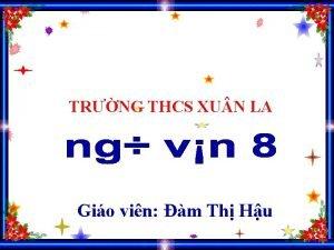 TRNG THCS XU N LA Gio vin m