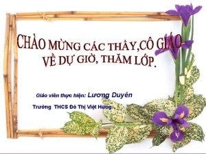 Gio vin thc hin Lng Duyn Trng THCS