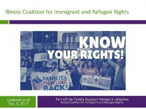 Illinois Coalition for Immigrant and Refugee Rights Updated