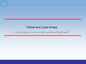 GBA Array examples WRA YKA Plans for the