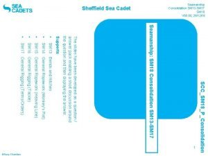 Sheffield Sea Cadet SM 16 General Rigging Tackle