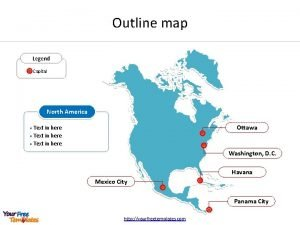 Outline map Legend Capital North America Ottawa Text
