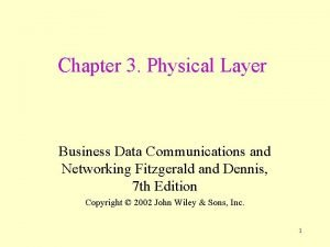 Chapter 3 Physical Layer Business Data Communications and