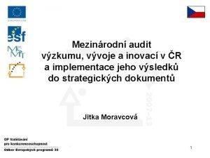 Mezinrodn audit vzkumu vvoje a inovac v R