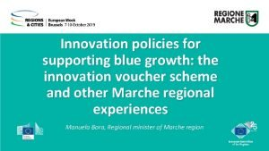 Innovation policies for supporting blue growth the innovation