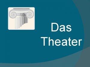 Das Theater Bildet den Assoziogramm Das Theater Die