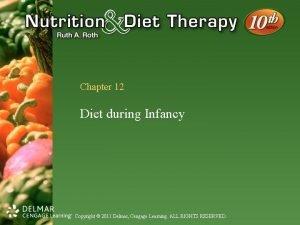 Chapter 12 Diet during Infancy Copyright 2011 Delmar