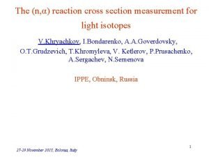 The n reaction cross section measurement for light