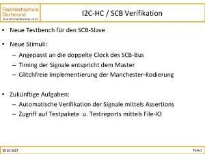 I 2 CHC SCB Verifikation Neue Testbench fr