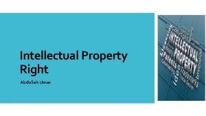 Intellectual Property Right Abdullah Umar Palsu Asli Mana