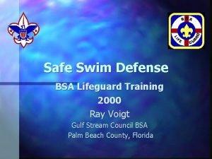 Safe Swim Defense BSA Lifeguard Training 2000 Ray
