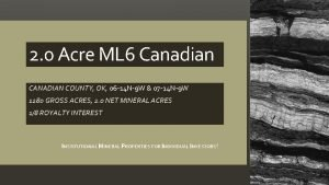 2 0 Acre ML 6 Canadian CANADIAN COUNTY