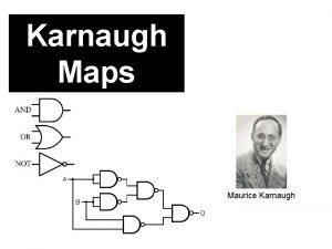 Karnaugh Maps Maurice Karnaugh Logic Symbols Not v