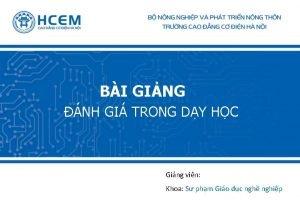 BI GING NH GI TRONG DY HC Ging