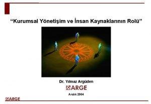 Kurumsal Ynetiim ve nsan Kaynaklarnn Rol Dr Ylmaz