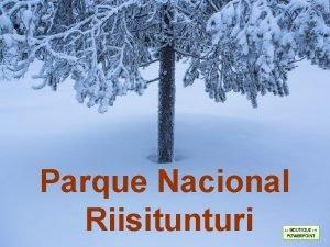 Parque Nacional Riisitunturi El Parque Nacional Riisitunturi es