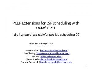 PCEP Extensions for LSP scheduling with stateful PCE