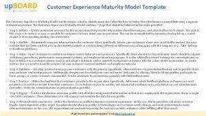 Customer Experience Maturity Model Template The Customer Experience