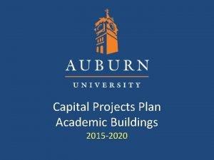 Capital Projects Plan Academic Buildings 2015 2020 Capital