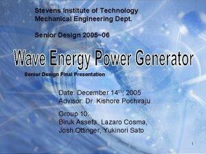 Stevens Institute of Technology Mechanical Engineering Dept Senior