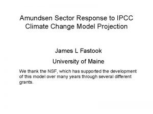 Amundsen Sector Response to IPCC Climate Change Model