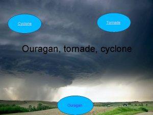 Tornade Cyclone Ouragan tornade cyclone Ouragan Cyclone DESCRIPTION