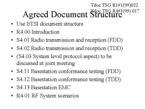 Tdoc TSG R 1199022 Tdoc TSG R 4199