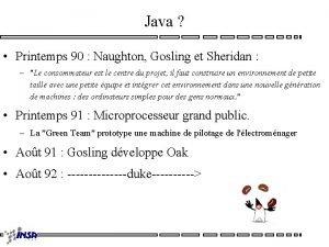 Java Printemps 90 Naughton Gosling et Sheridan Le