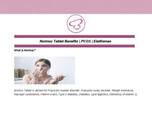 Normoz Tablet Benefits PCOS Ela Woman What is