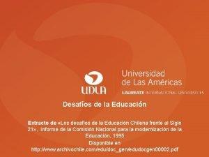 Desafos de la Educacin Extracto de Los desafos