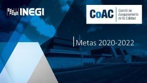 Metas 2020 2022 Sistema de Gestin de Calidad