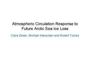 Atmospheric Circulation Response to Future Arctic Sea Ice