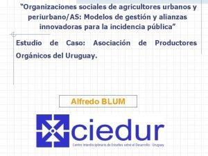 Organizaciones sociales de agricultores urbanos y periurbanoAS Modelos