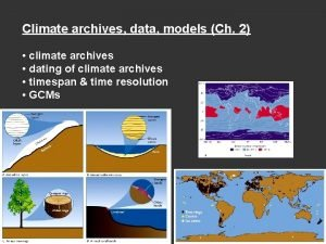 Climate archives data models Ch 2 climate archives