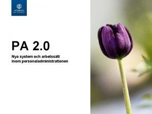 PA 2 0 Nya system och arbetsstt inom