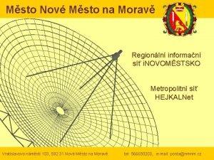 Msto Nov Msto na Morav Regionln informan s