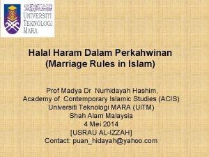 Halal Haram Dalam Perkahwinan Marriage Rules in Islam