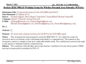 March 17 2011 doc IEEE 802 15 11