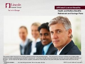 Affiliated Contract Benefits Health and Welfare Benefits Retirement