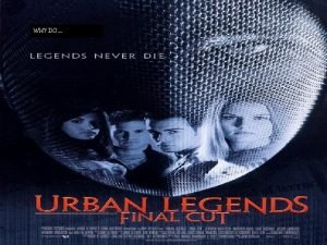 WHY DO URBAN LEGENDS Urban Legends are very