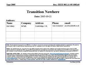 Sept 2005 doc IEEE 802 11 051002 r