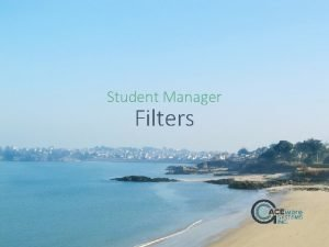 Student Manager Filters July topics July 13 Filters