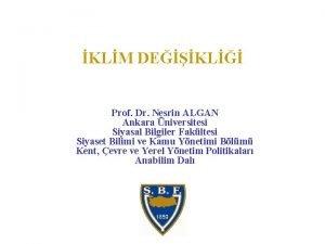 KLM DEKL Prof Dr Nesrin ALGAN Ankara niversitesi