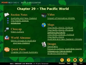 Chapter 29 The Pacific World Section Notes Video