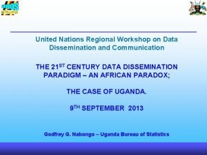 United Nations Regional Workshop on Data Dissemination and