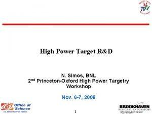 High Power Target RD N Simos BNL 2
